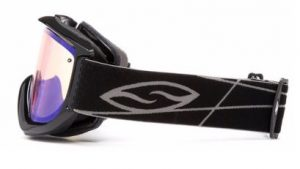 A side view of the Knowledge Turbo Fan snowboard ski Goggles